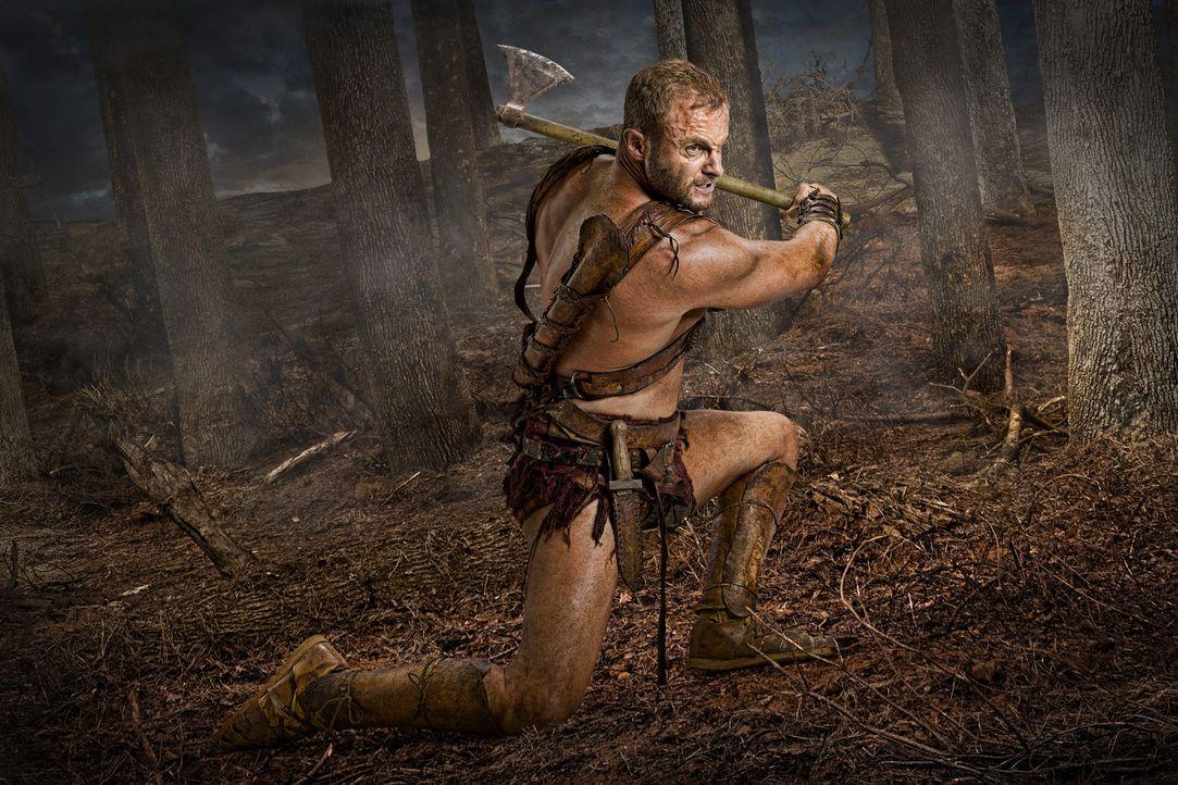 Mit ihm ist nicht zu spaßen: Donar (Heath Jones) ... - Bildquelle: 2011 Starz Entertainment, LLC. All rights reserved.
