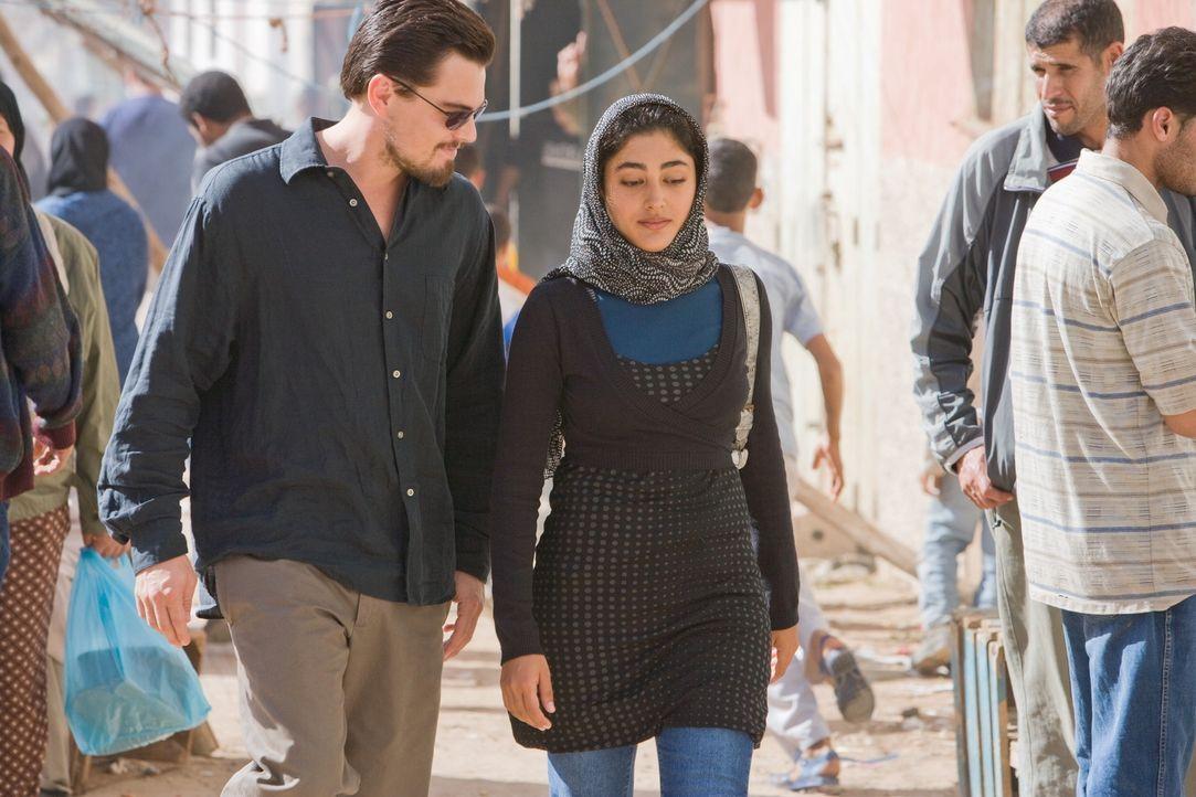 Als Ferris' (Leonardo DiCaprio, l.) neue Freundin Aisha (Golshifteh Farahani, r.) entführt wird, riskiert der junge CIA-Agent Kopf und Kragen, um s... - Bildquelle: Warner Brothers