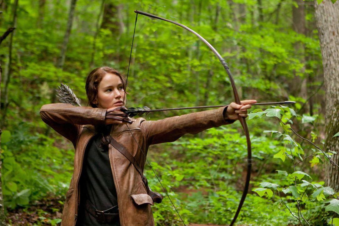 Im Gegensatz zu Peeta ist Katniss (Jennifer Lawrence) eine hervorragende Bogenschützin und eine gute Jägerin. Wird ihr dies zugutekommen in dem m - Bildquelle: Studiocanal GmbH