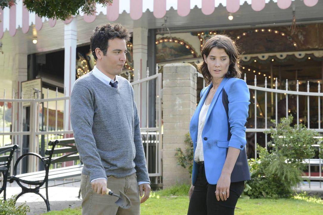 Ted (Josh Radnor, l.) steht Robin (Copbie Smulders, r.) bei der Suche nach einem Medaillon im Central Park bei ... - Bildquelle: 2013 Twentieth Century Fox Film Corporation. All rights reserved.