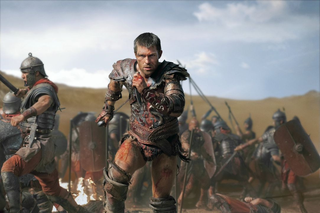 "Nach und nach schickt Crassus immer mehr Legionen gegen den ""Bringer des Regens"" und seine Kämpfer in Stellung. Da beschließt Spartacus (Liam McInty... - Bildquelle: 2012 Starz Entertainment, LLC. All rights reserved."