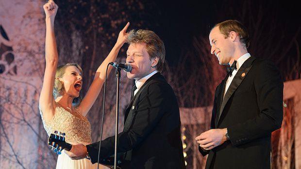 Rock'n'Royal - Prinz William rockt mit Taylor Swift und Jon Bon Jovi - Bildquelle: AFP