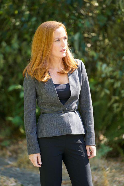 Gerät auch Scully (Gillian Anderson) ins Visier zweier mörderischer Zwillinge? - Bildquelle: Shane Harvey 2017 Fox and its related entities.  All rights reserved.