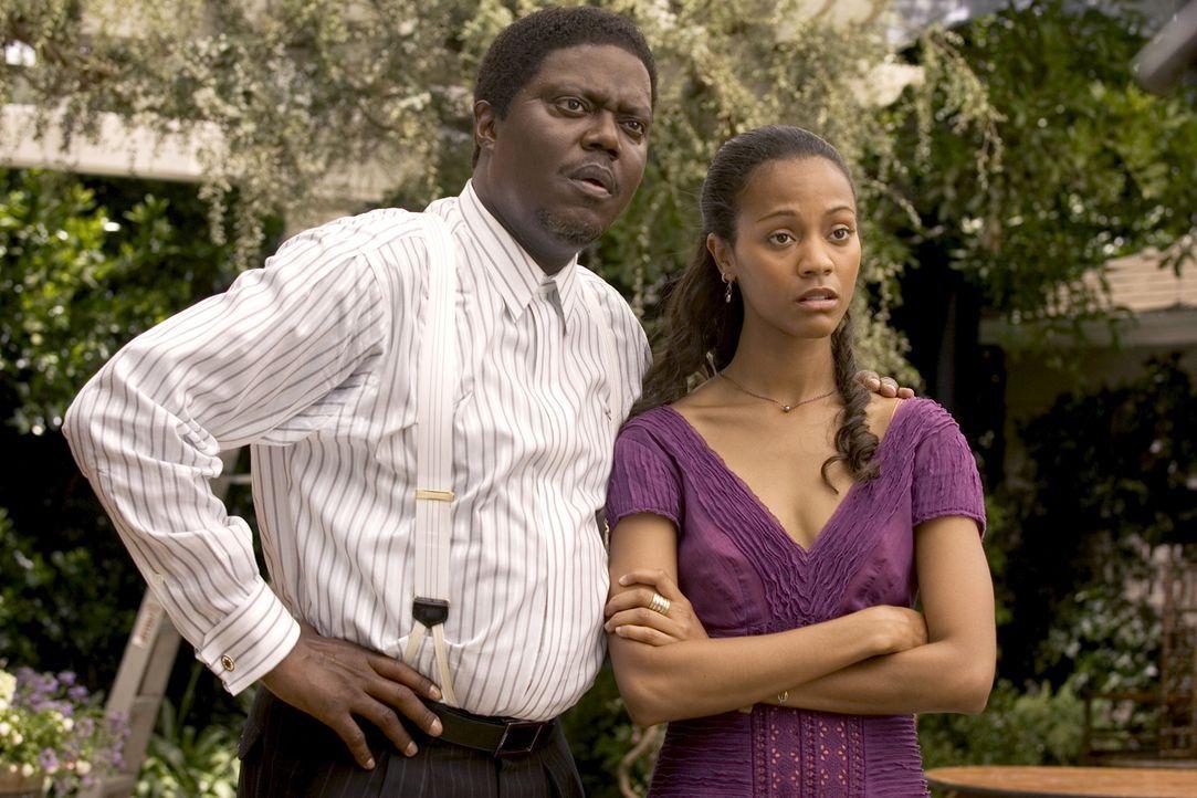 Percy Jones (Bernie Mac, l.) hütet seine Theresa (Zoe Saldana, r.) wie einen Augapfel. Das Beste ist für sie gerade gut genug. Aber wie sieht es m... - Bildquelle: 2007 CPT Holdings, Inc. All Rights Reserved. (Sony Pictures Television International)