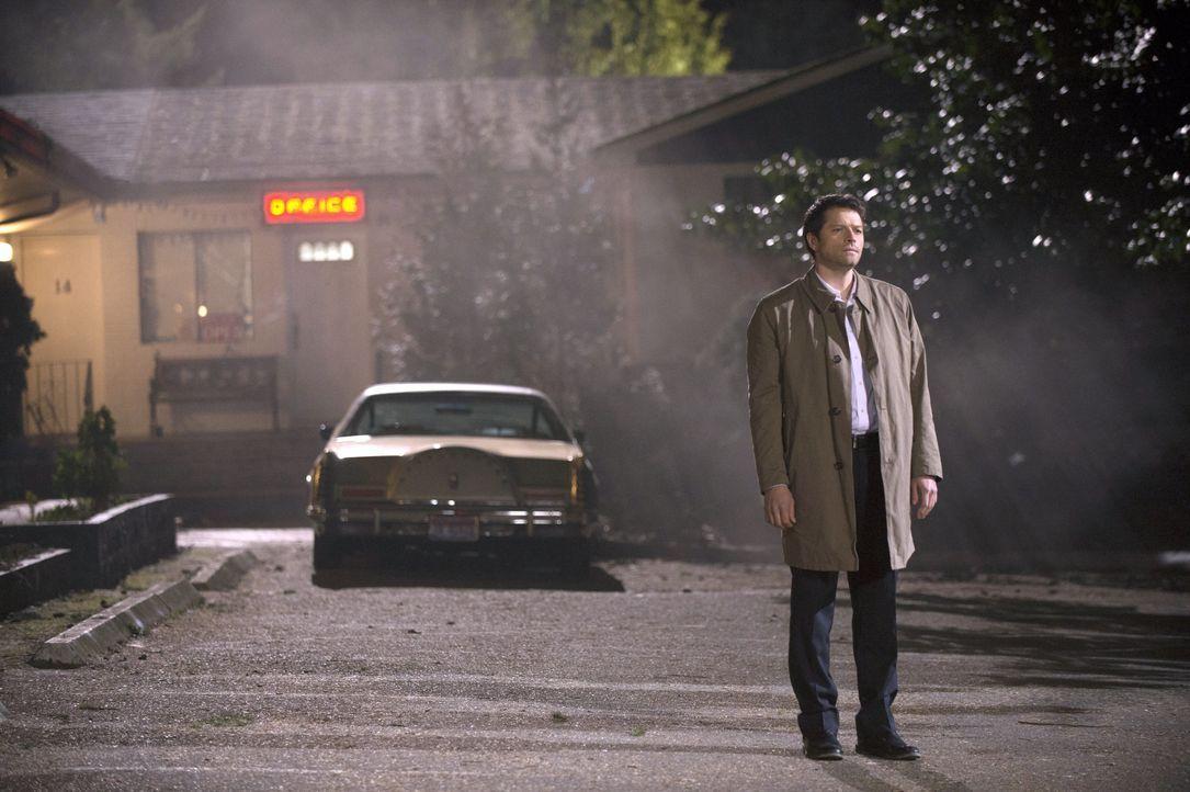 Nach und nach wird Castiel (Misha Collins) bewusst, dass er die ganze Zeit der Spielball von Metatron war ... - Bildquelle: 2013 Warner Brothers