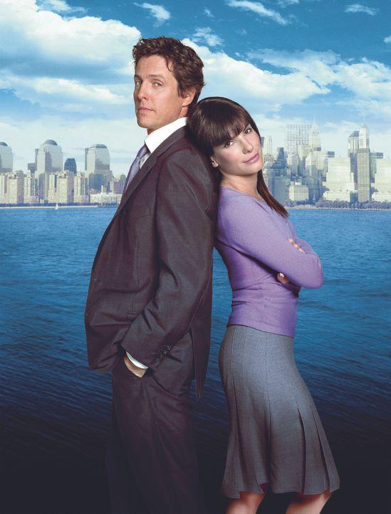 Ein Chef zum Verlieben mit Hugh Grant, l. und Sandra Bullock, r. - Bildquelle: Warner Bros.