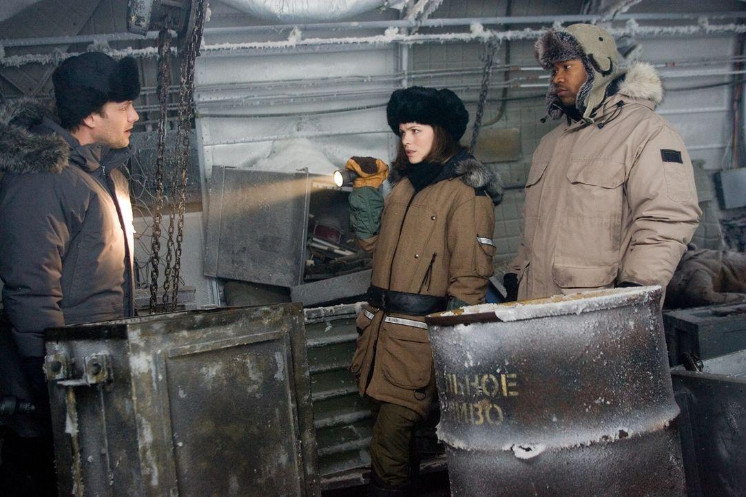 Carrie Stetko (Kate Beckinsale, M.) und Delfy (Columbus Short, r.) treffen auf Robert Pryce (Gabriel Macht, l.), einen UN-Sonderermittler. Können s... - Bildquelle: Warner Bros.