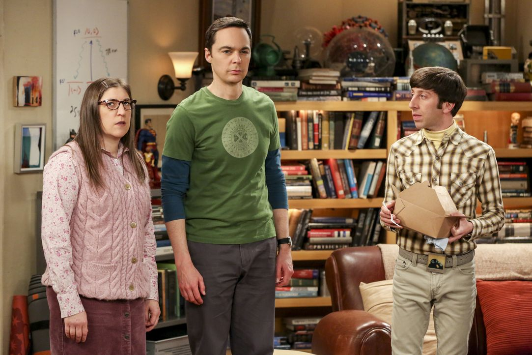 (v.l.n.r.) Amy Farrah Fowler (Mayim Bialik); Sheldon Cooper (Jim Parsons); Howard Wolowitz (Simon Helberg) - Bildquelle: Michael Yarish 2019 WBEI. All rights reserved. / Michael Yarish
