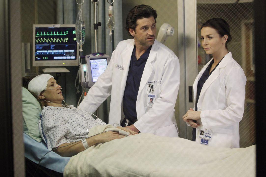 Während Addison in einen Streit von Sam und Jake gerät, reisen Cooper und Charlotte mit Erica (A.J. Langer, l.) ins Seattle Grace Hospital um mit... - Bildquelle: ABC Studios