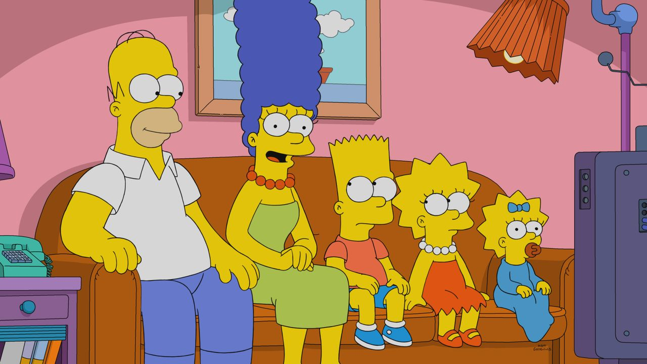 (v.l.n.r.) Homer; Marge; Bart; Lisa; Maggie - Bildquelle: 2018-2019 Fox and its related entities.  All rights reserved.