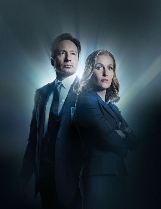 (1. Staffel) - Als Mulder (David Duchovny, l.) bewusst wird, dass er nie die ganze Wahrheit erkannt hat, flammt in ihm das alte Feuer wieder auf und... - Bildquelle: 2016 Fox and its related entities.  All rights reserved.