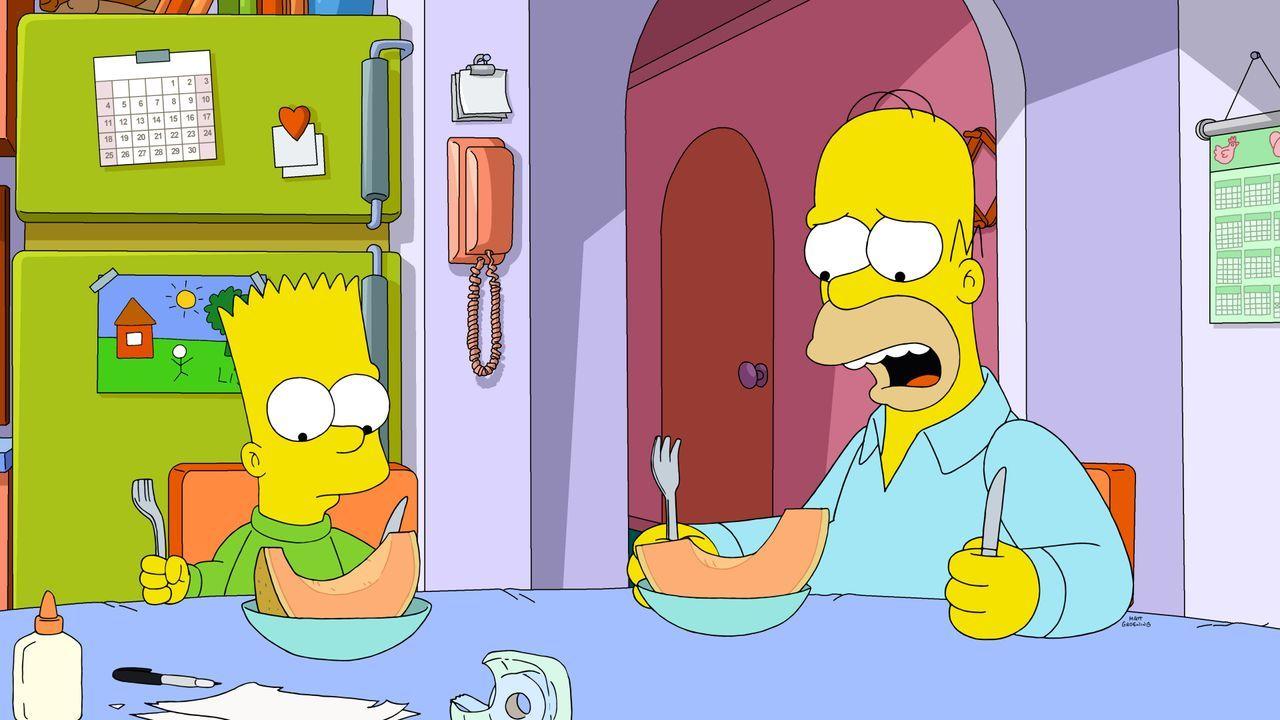 Bart (l.); Homer (r.) - Bildquelle: 2020 by Twentieth Century Fox Film Corporation.
