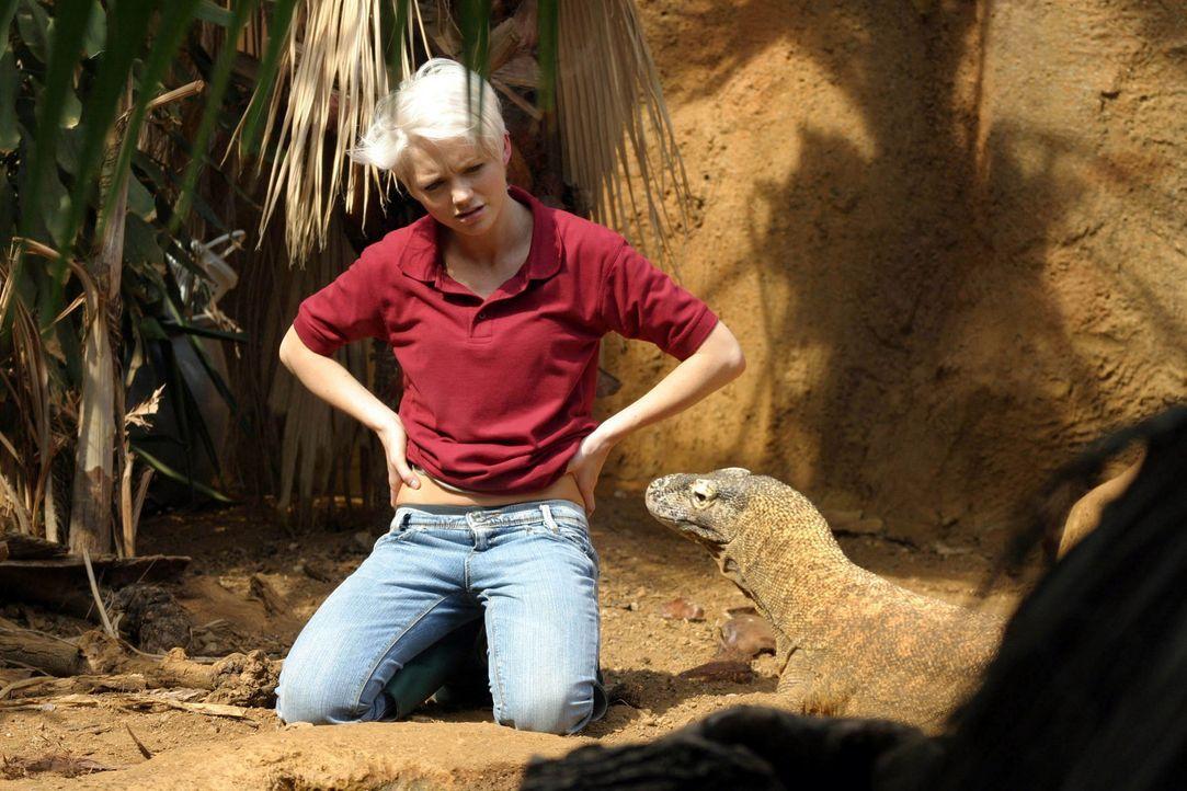 Abby (Hannah Spearritt) nähert sich dem Varan an ... - Bildquelle: ITV Plc