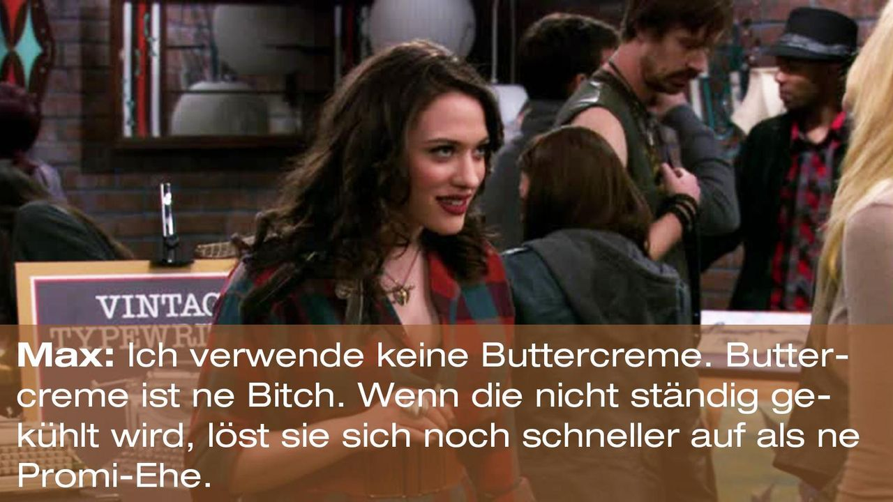 2-broke-girls-zitat-staffel1-episode-22-buttercreme-blamage-max-bitch-warnerpng 1600 x 900 - Bildquelle: Warner Brothers Entertainment Inc.
