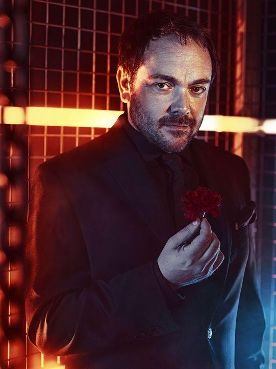 (10. Staffel) - Der Teufel nutzt seinen neusten Verbündeten für seine Zwecke, aber wie lange wird Crowley (Mark Sheppard) Dean und das Kainsmal bei... - Bildquelle: 2013 Warner Brothers
