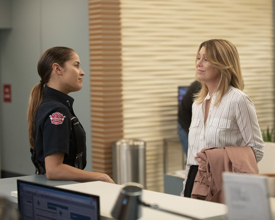 Andy Herrera (Jaina Lee Ortiz, l.); Dr. Meredith Grey (Ellen Pompeo, r.) - Bildquelle: Rick Rowell ABC Studios/Rick Rowell