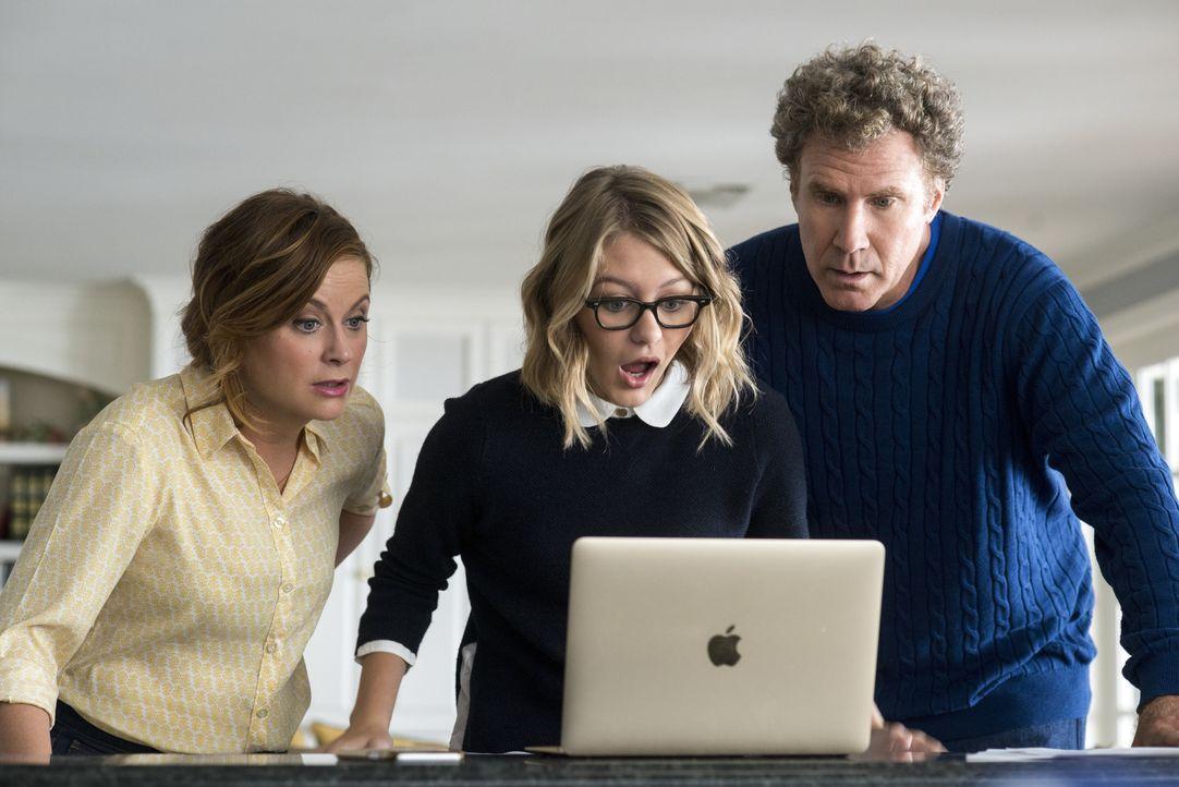 (v.l.n.r.) Kate Johansen (Amy Poehler); Alex Johansen (Ryan Simpkins); Scott Johansen (Will Ferrell) - Bildquelle: Warner Bros.