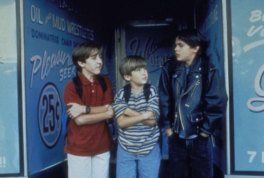 In der Stadt wollen Frank (Michael Patrick Carter, M.) und seine Freunde ihr Taschengeld für etwas Sinnvolles ausgeben ... - Bildquelle: Paramount Pictures