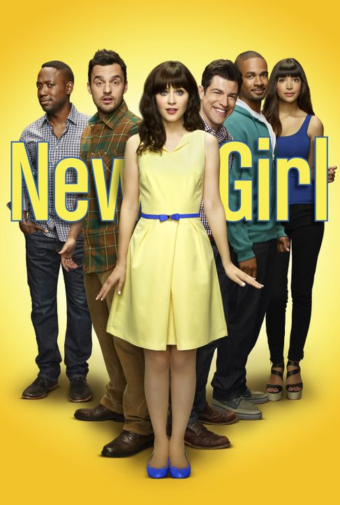 (4. Staffel) - Cece (Hannah Simone, r.), Coach (Damon Wayans Jr., 2.v.r.), Schmidt (Max Greenfield, 3.v.r.), Jess (Zooey Deschanel, 3.v.l.), Nick (J... - Bildquelle: 2014 Twentieth Century Fox Film Corporation. All rights reserved.