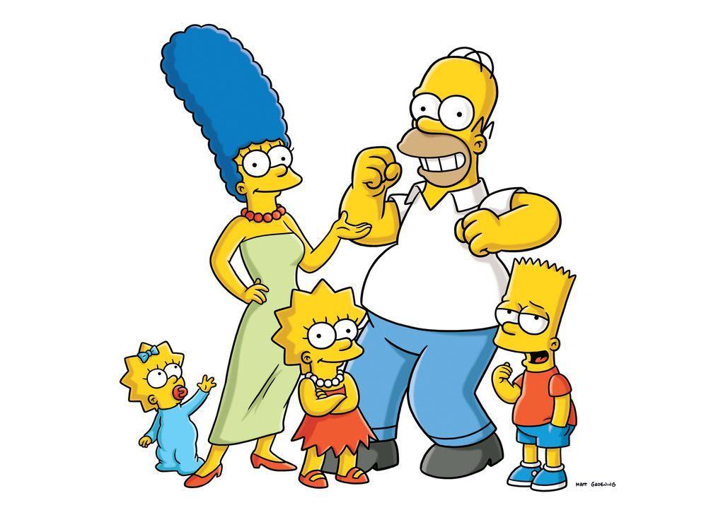 (23. Staffel) - Die Simpsons sind eine nicht alltägliche Familie: (v.l.n.r.) Maggie, Marge, Lisa, Homer und Bart ... - Bildquelle: und TM Twentieth Century Fox Film Corporation - Alle Rechte vorbehalten