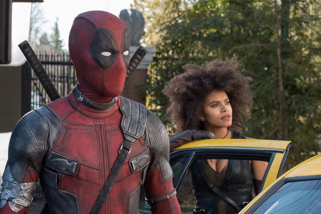 Deadpool (Ryan Reynolds, l.); Domino (Zazie Beetz, r.) - Bildquelle: Joe Lederer 2018 Twentieth Century Fox Film Corporation. All rights reserved. MARVEL © 2018 MARVEL / Joe Lederer