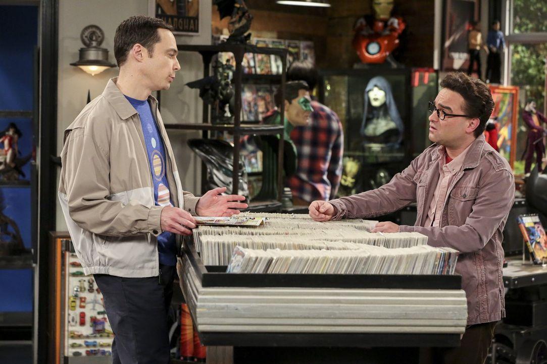 Während Sheldons (Jim Parsons, l.) Vorfreude nicht größer sein könnte, hält sich Leonards (Johnny Galecki, r.) Freude wegen Penny in Grenzen - wären... - Bildquelle: 2016 Warner Brothers