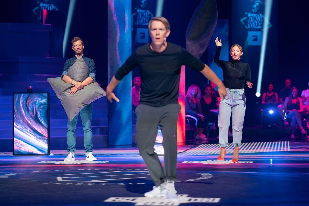 (v.l.n.r.) Joko Winterscheidt; Simon Gosejohann; Jeannine Michaelsen - Bildquelle: Jens Hartmann ProSieben / Jens Hartmann