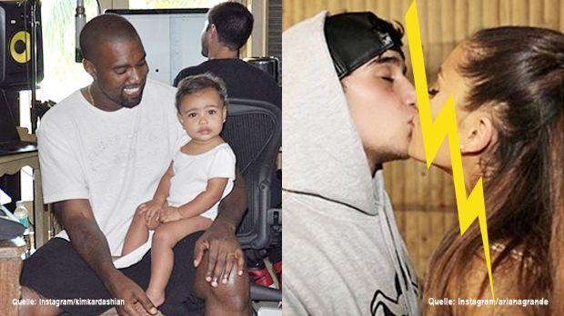 TopFlop-Kanye-West-North-West-Instagram-kim-kardashian-Ariana-Grande-Jai-Brooks-Instagram-arianagrande - Bildquelle: Instagram/kimkardashian, Instagram/arianagrande
