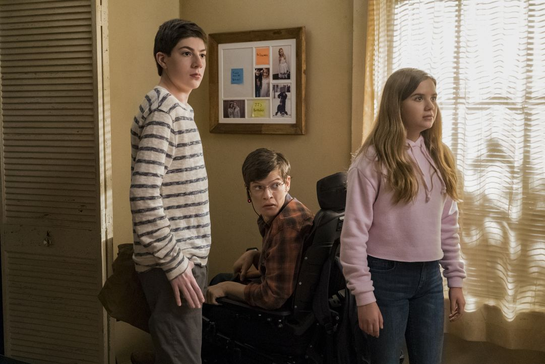 (v.l.n.r.) Ray DiMeo (Mason Cook); JJ DiMeo (Micah Fowler); Dylan DiMeo (Kyla Kenedy) - Bildquelle: 2018-2019 American Broadcasting Companies. All rights reserved.