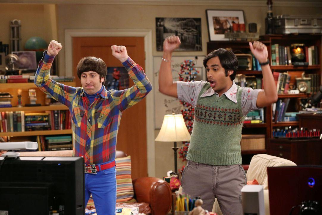 Verbringen einen lustigen Abend zusammen: Howard (Simon Helberg, l.) und Raj (Kunal Nayyar, r.) ... - Bildquelle: Warner Bros. Television