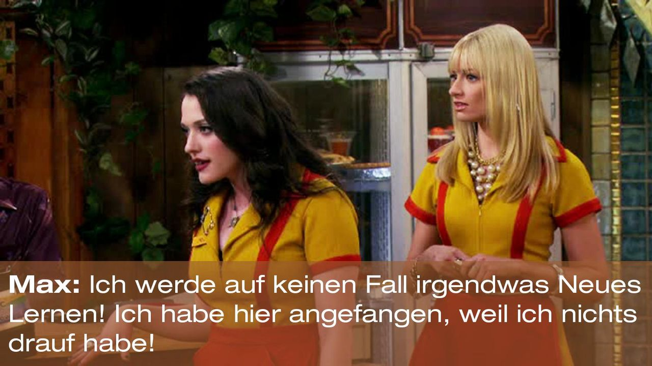2-broke-girls-zitat-staffel2-episode2-glueckskette-max-warnerpng 1600 x 900 - Bildquelle: Warner Brothers Entertainment Inc.