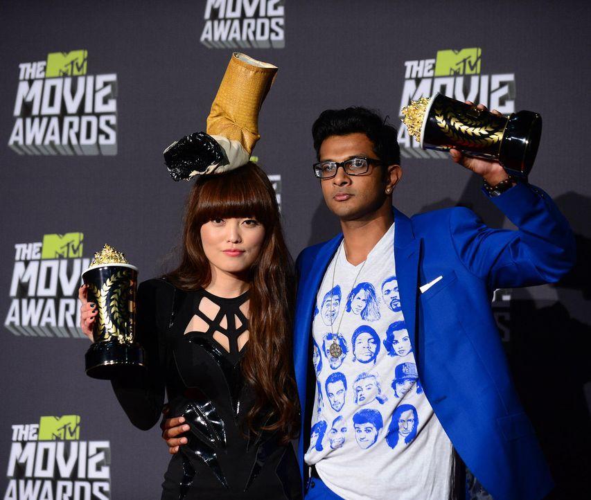 mtv-movie-awards-130414-hana-mae-lee-utkarsh-ambudkar-afpjpg 1700 x 1439 - Bildquelle: getty-AFP