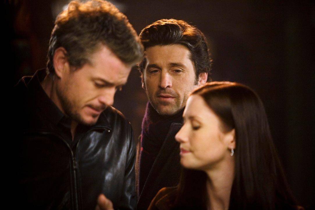 Grey's Anatomy – Mark und Lexie – 09: Mark (Eric Dane), Derek (Patrick Dempsey)Lexie (Chyler Leigh) - Bildquelle: ABC Studios