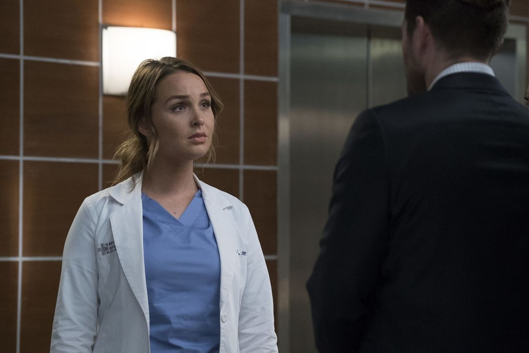 Jo (Camilla Luddington) muss sich mit ihrem gewalttätigen Mann auseinandersetzen, als dieser im Grey Sloan auftaucht ... - Bildquelle: Richard Cartwright 2017 American Broadcasting Companies, Inc. All rights reserved.