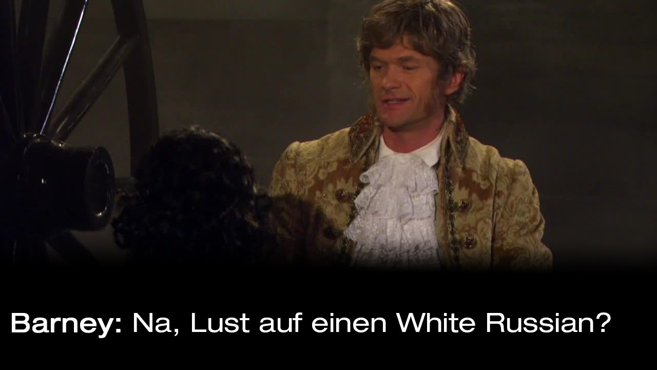How-I-Met-Your-Mother-Zitate-Staffel-9-7-Barney-White-Russian - Bildquelle: 20th Century Fox Film Corporation all rights reserved.