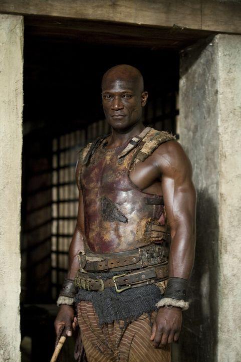 Glaubt fest an die Ehre eines Gladiators: Drago (Peter Mensah) - bis er eines Besseren belehrt wird ... - Bildquelle: 2010 Starz Entertainment, LLC