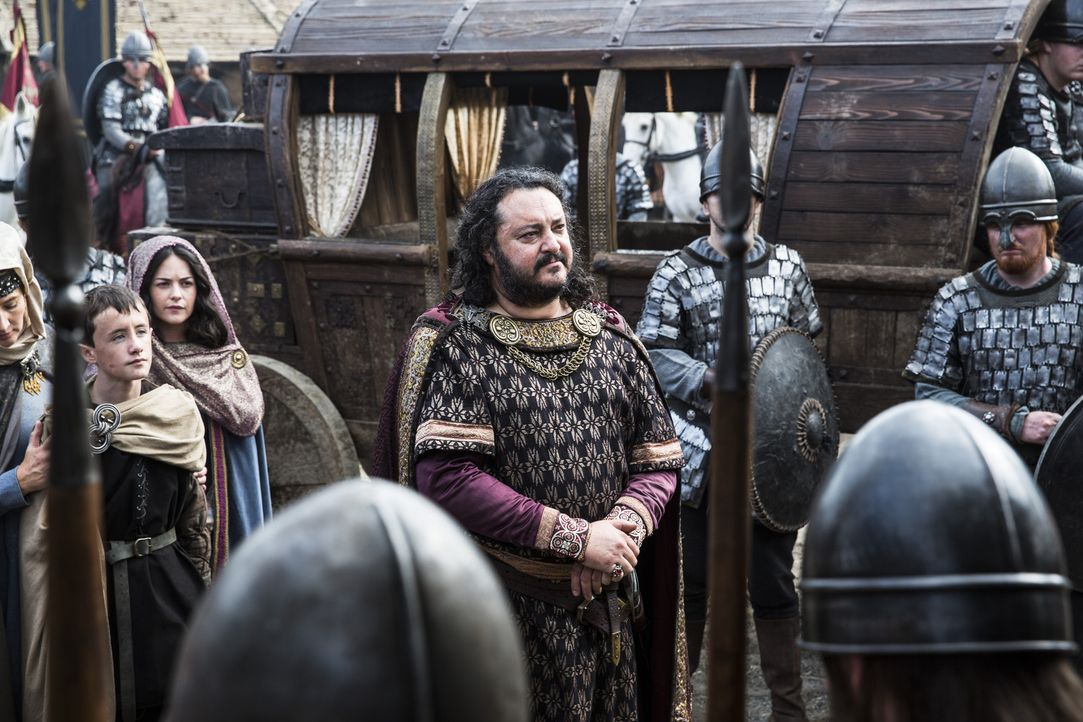 Während Jarl Borg hofft, dass er von Ragnar verschont wird, trifft König Aelle (Ivan Kaye, M.) in Wessex ein und verbündet sich mit König Ecbert geg... - Bildquelle: 2014 TM TELEVISION PRODUCTIONS LIMITED/T5 VIKINGS PRODUCTIONS INC. ALL RIGHTS RESERVED.
