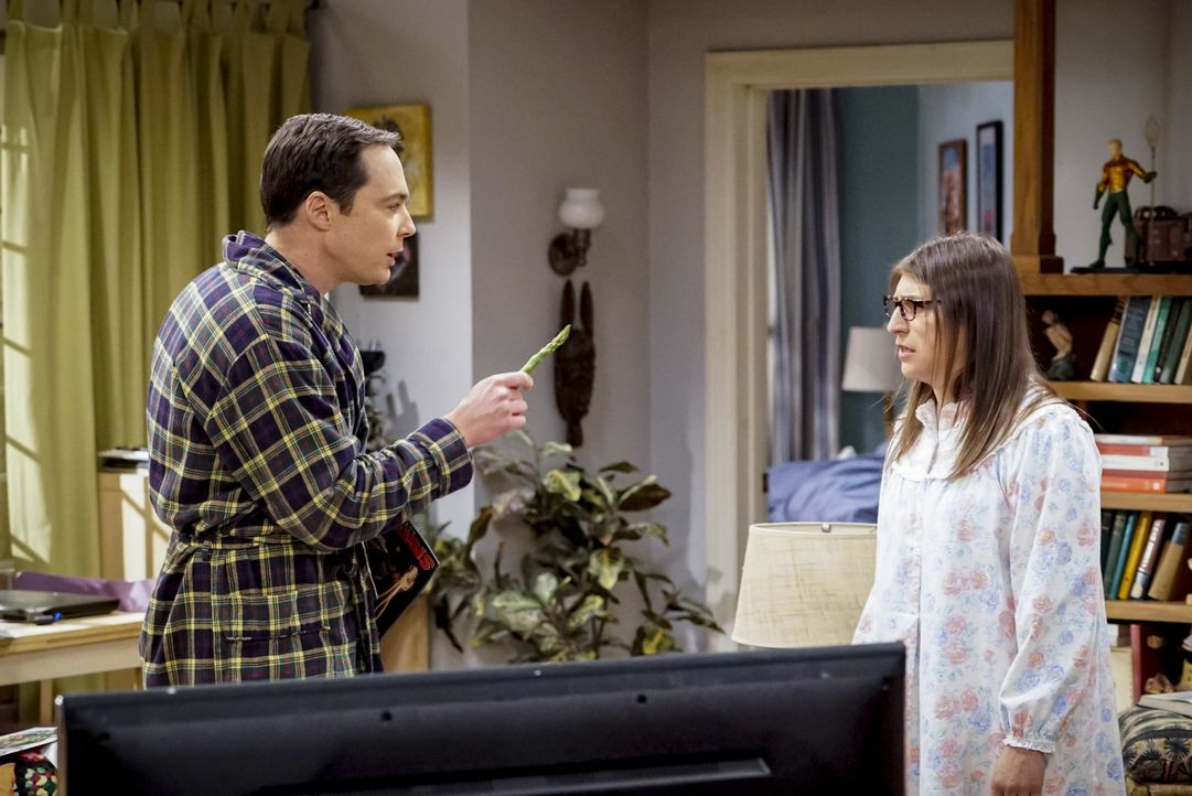 Sheldon (Jim Parsons, l.); Amy (Mayim Bialik) - Bildquelle: Bill Inoshita 2018 CBS Broadcasting, Inc. All Rights Reserved/Bill Inoshita