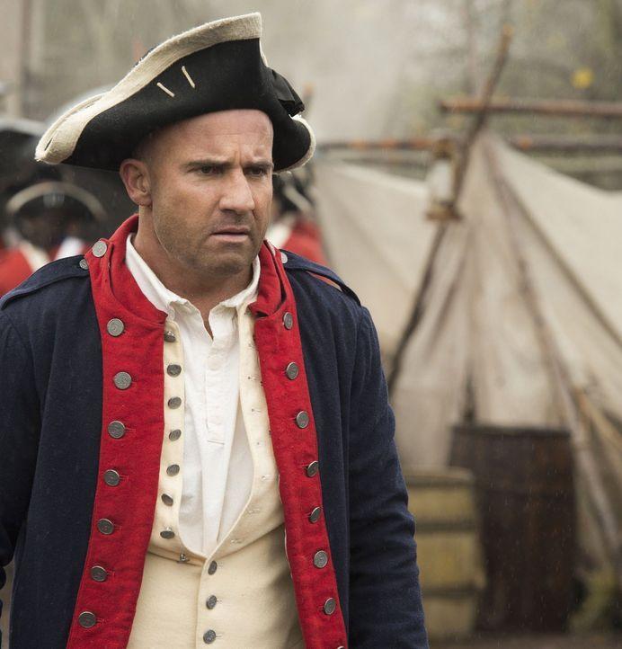 Um George Washington und den Ausgang des Amerikanischen Revolutionskrieg zu beschützen, reisen Mick (Dominic Purcell) und das Team ins Jahr 1776. Do... - Bildquelle: Warner Brothers