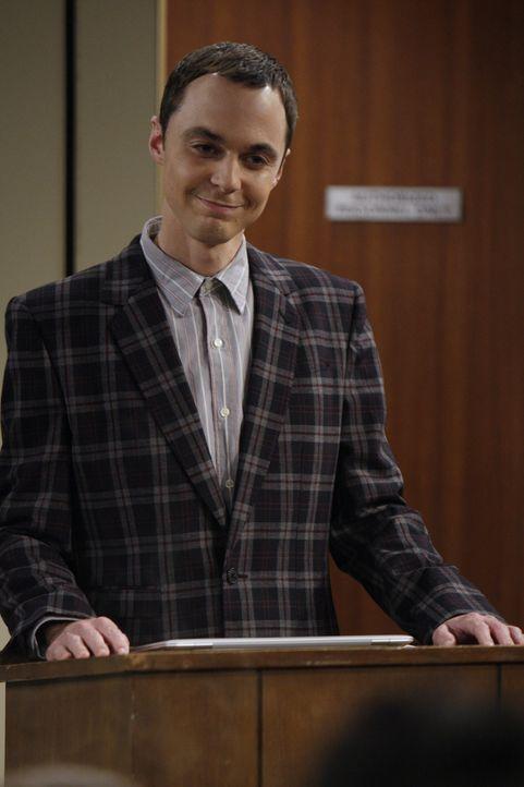 Nachdem Leonard und Sheldon (Jim Parsons) vor Studenten einen Vortrag gehalten haben, möchte sich Ramona, eine Studentin, unbedingt mit Sheldon tre... - Bildquelle: Warner Bros. Television