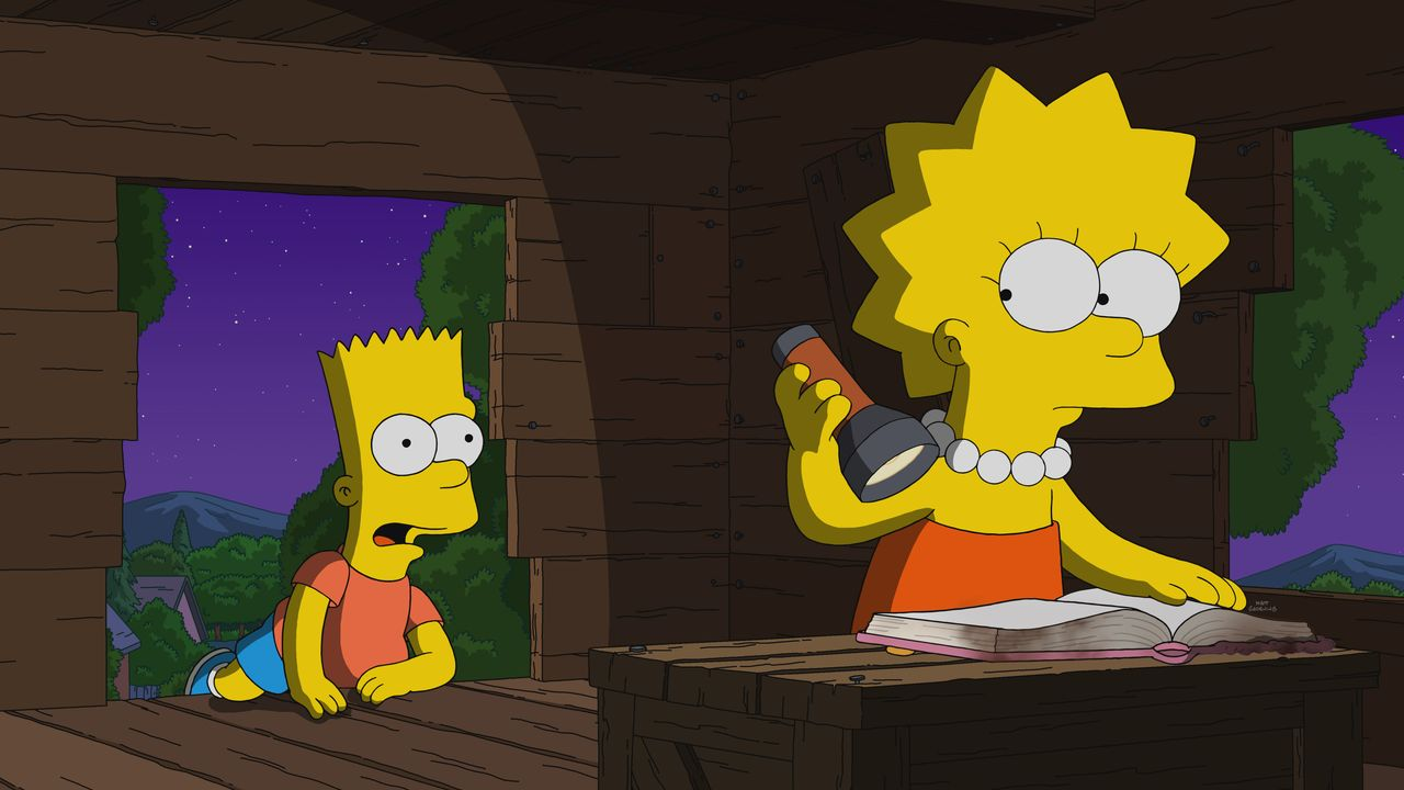Bart (l.); Lisa (r.) - Bildquelle: 2021 by Twentieth Century Fox Film Corporation.
