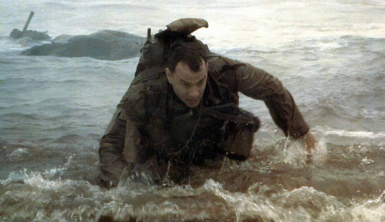6. Juni 1944. Captain John Miller (Tom Hanks) wird mitten in die Schlacht geschickt, die an der französischen Normandieküste Mitte 1944 tobt. Sein A... - Bildquelle: United International Pictures