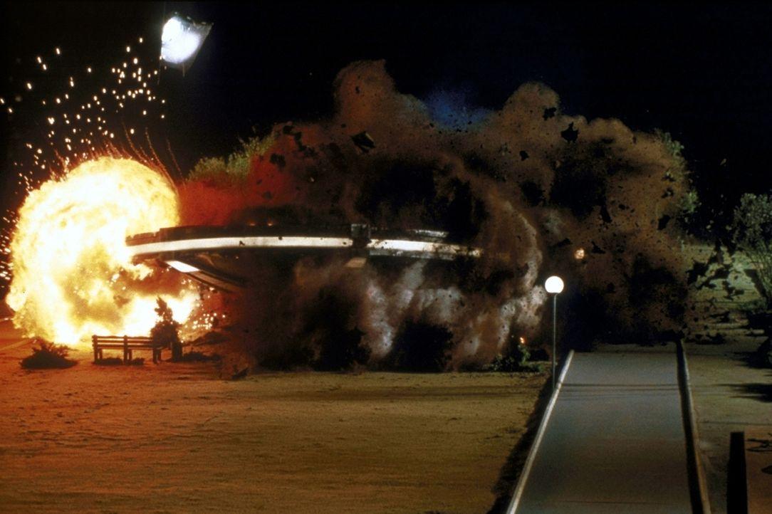 Der Welt droht tödliche Gefahr: Bösartige Aliens landen auf der Erde ... - Bildquelle: Columbia TriStar