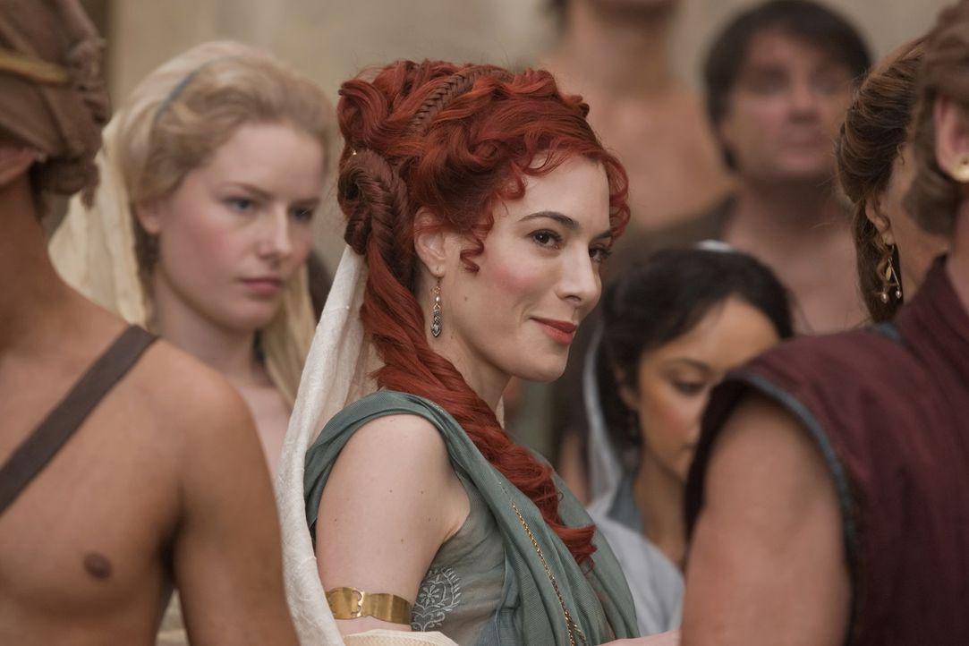 Auf der Jagd nach einem neuen Ehemann: Gaia (Jaime Murray) ... - Bildquelle: 2010 Starz Entertainment, LLC