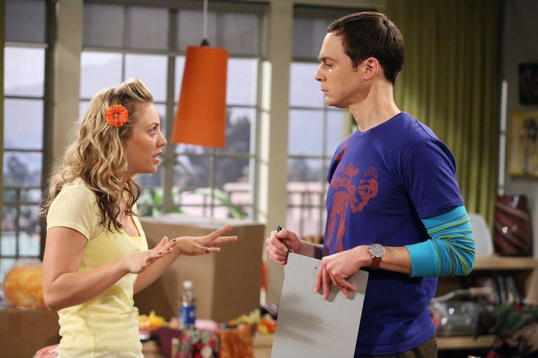Penny (Kaley Cuoco, l.) möchte ihr eigenes Haarspangen-Unternehmen gründen und Sheldon (Jim Parsons, r.) ist ihr dabei behilflich ... - Bildquelle: Warner Bros. Television