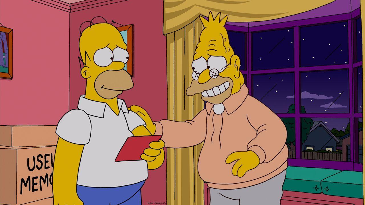 Nachdem Homer (l.) Familienhund Knecht Ruprecht versehentlich im Schrank eingesperrt hat, unterstellt ihm seine Familie sofort, den Vierbeiner nicht... - Bildquelle: und TM Twentieth Century Fox Film Corporation - Alle Rechte vorbehalten
