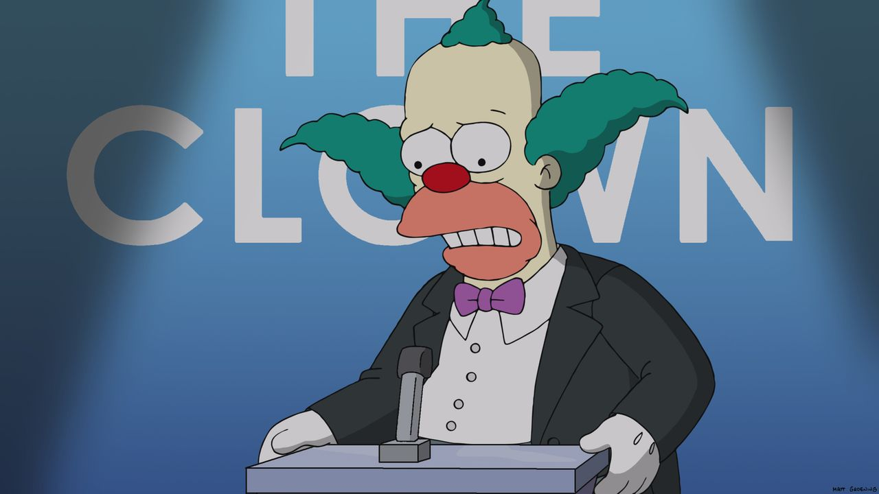 Scheint nicht so gut wegzustecken, dass man sich so harsch über ihn lustig macht: Krusty der Clown ... - Bildquelle: 2014 Twentieth Century Fox Film Corporation. All rights reserved.