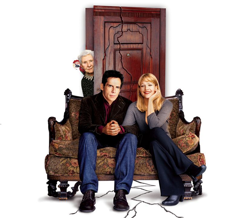 Der Appartement-Schreck - Artwork (mit Ben Stiller, M., Drew Barrymore, r. und Eileen Essel, l.) - Bildquelle: Miramax Films.  All Rights Reserved.
