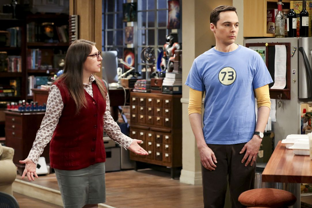 Amy Farrah Fowler (Mayim Bialik, l.); Sheldon Cooper (Jim Parsons, r.) - Bildquelle: Michael Yarish 2019 CBS Broadcasting, Inc. All Rights Reserved / Michael Yarish