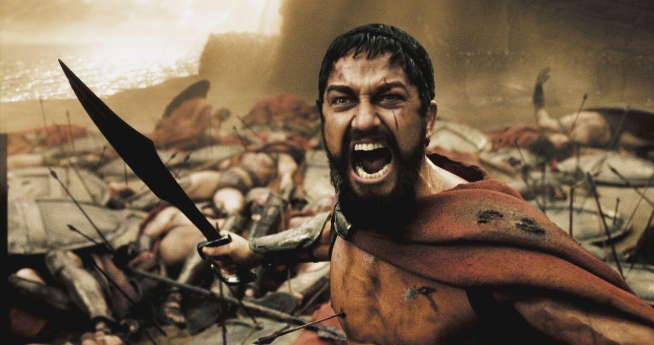 Im Jahre 480 vor Christus marschiert der persische Großkönig Xerxes mit einer riesigen Armee nach Griechenland. Als Leonidas I. (Gerard Butler), K... - Bildquelle: TM &   Warner Bros. Entertainment Inc.